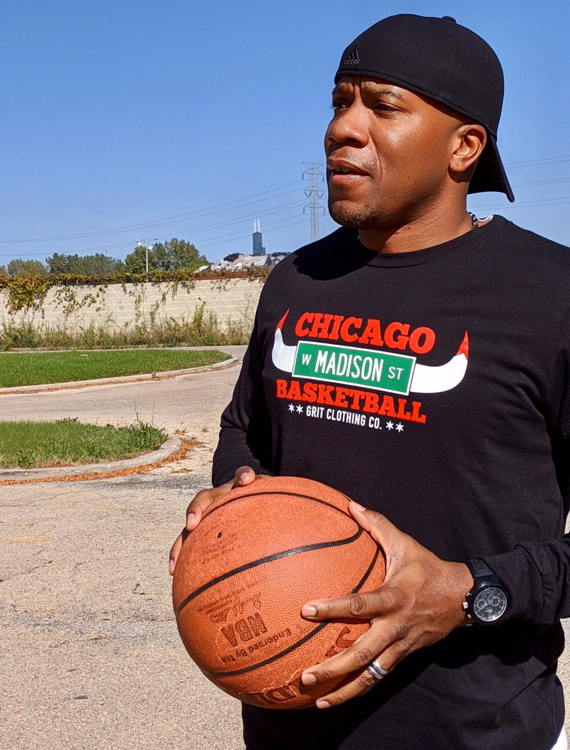 Chicago Basketball Long Sleeve T-Shirt