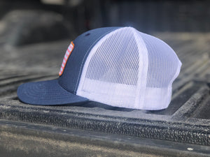 Navy Blue/ White Patriot Snapback Hat