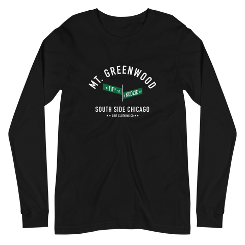 Mt. Greenwood - 111th & Kedzie - Unisex Long Sleeve T-Shirt