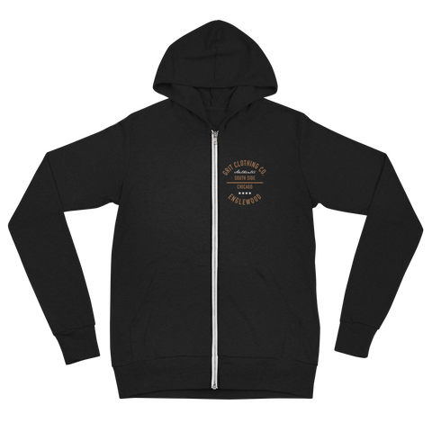 Authentic - Englewood - Lightweight Unisex Zip Hoodie