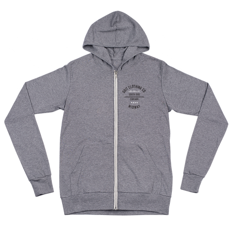 Authentic - Midway - Lightweight Unisex Zip Hoodie