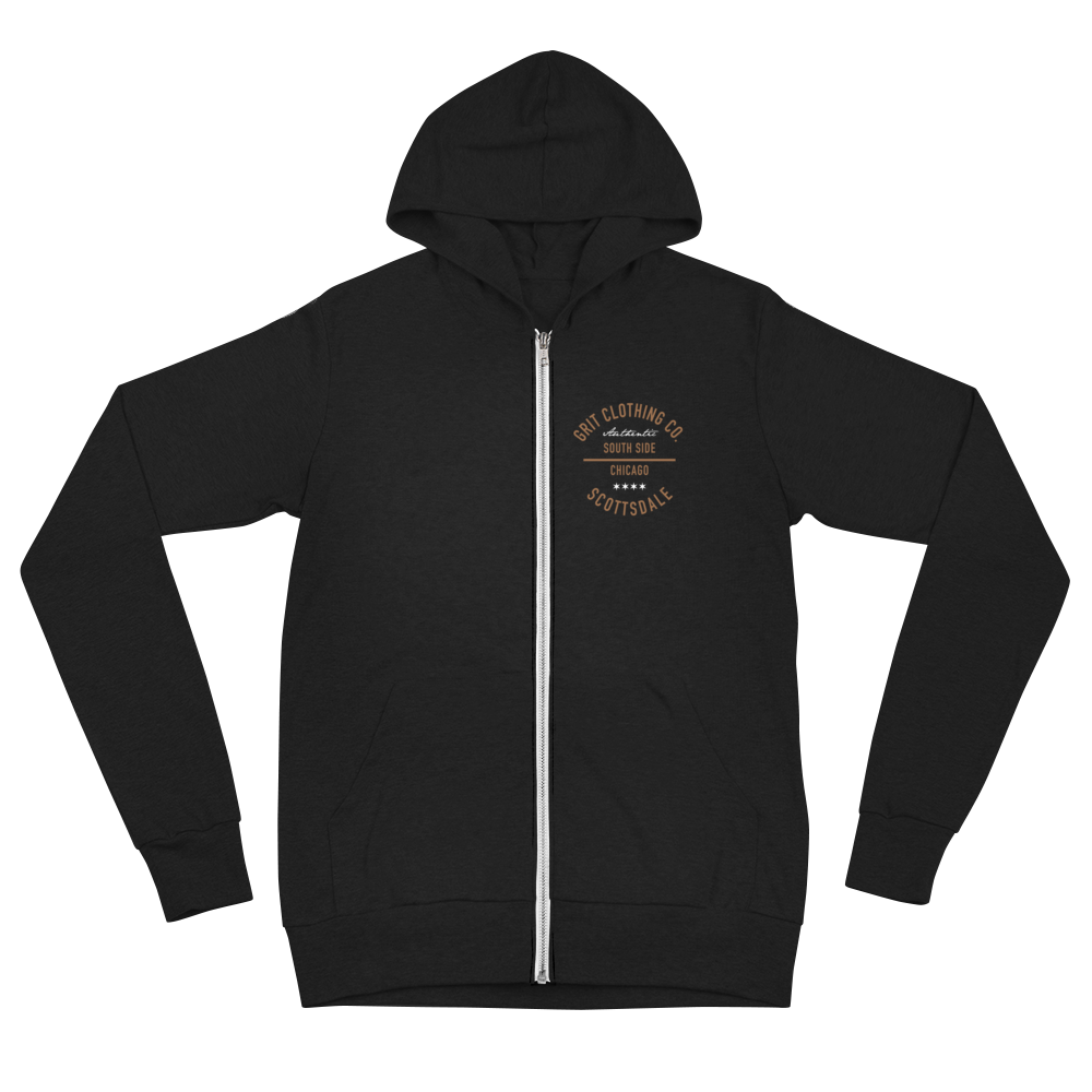 Authentic - Scottsdale - Lightweight Unisex Zip Hoodie