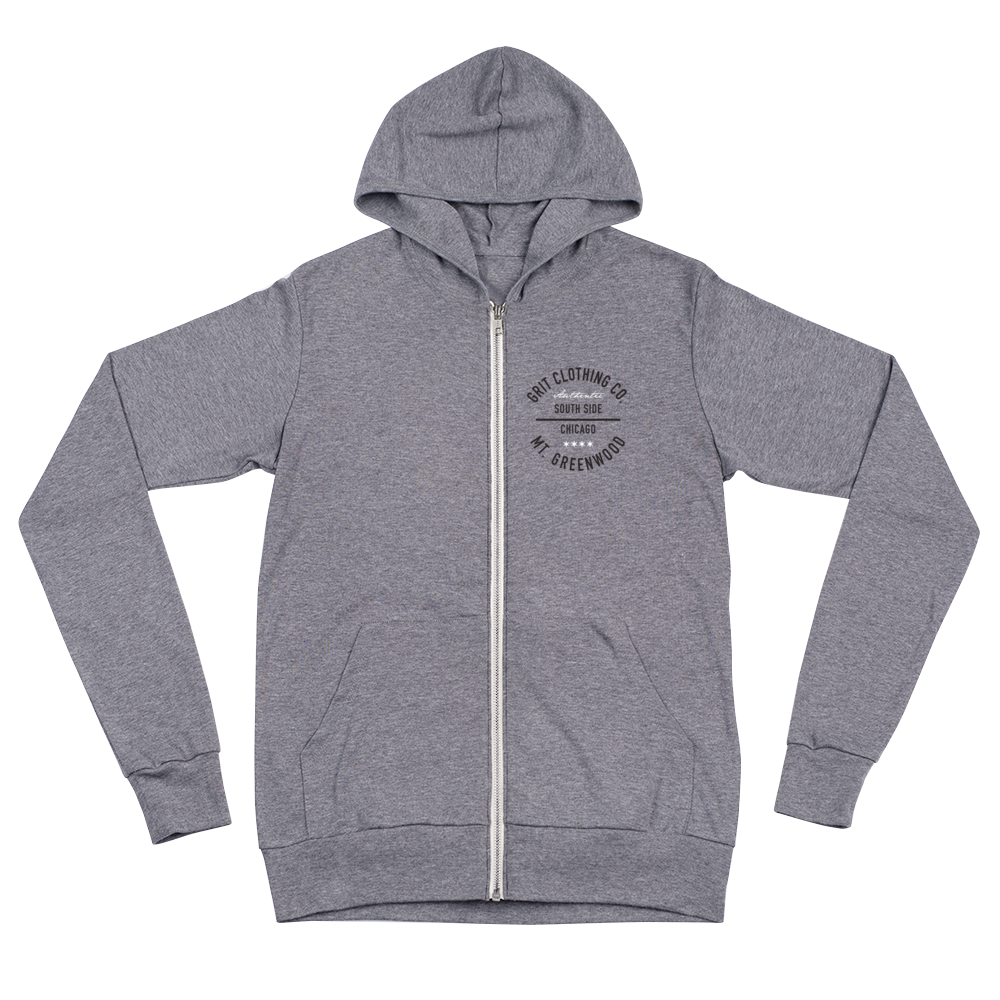 Authentic - Mt. Greenwood - Lightweight Unisex Zip Hoodie