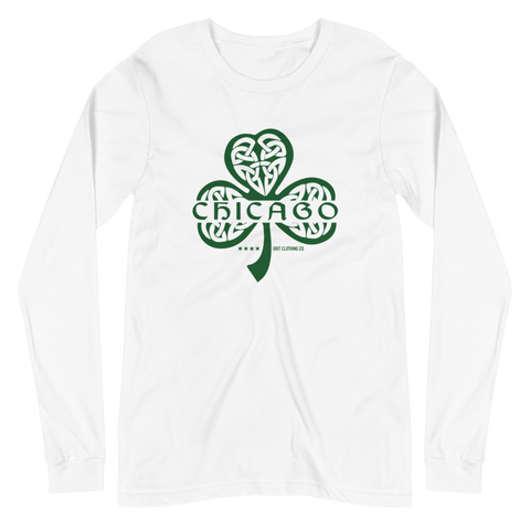 Chicago Celtic Shamrock - Unisex Long Sleeve T-Shirt