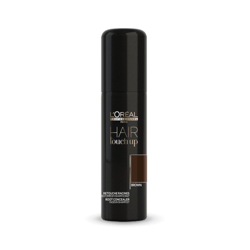 L'Oreal Professionnel Hair Touch Up Root Concealer - Brown 75ml - Salon Style