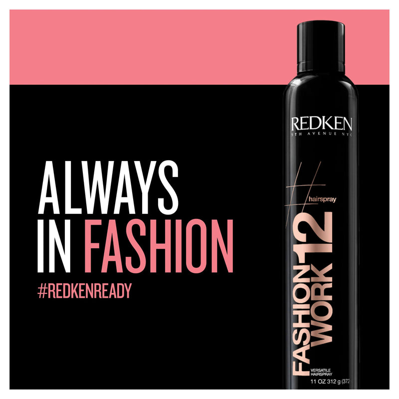Redken Fashion Work 12 Versatile Hairspray 400ml - Salon Style
