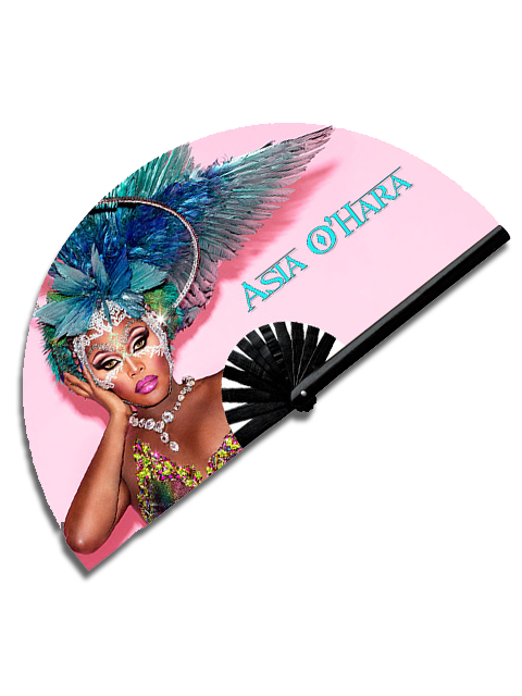 Asia O'Hara Feathered Goddess Fan