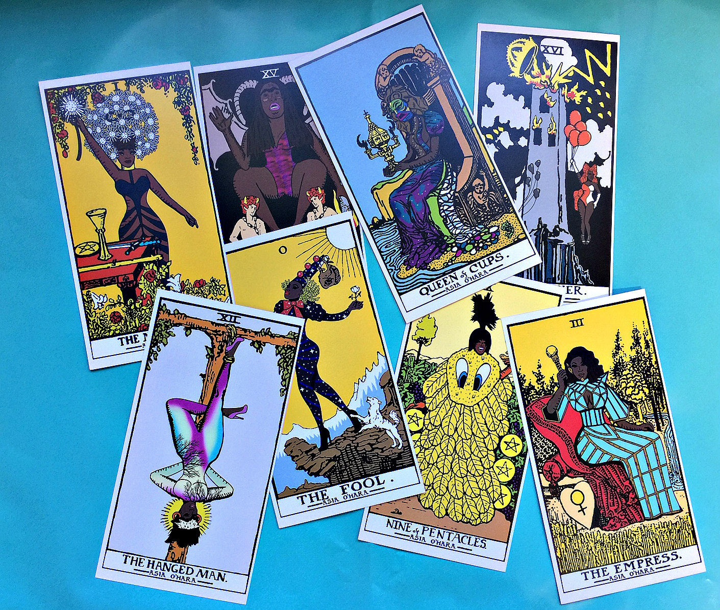 8 piece Tarot Card set