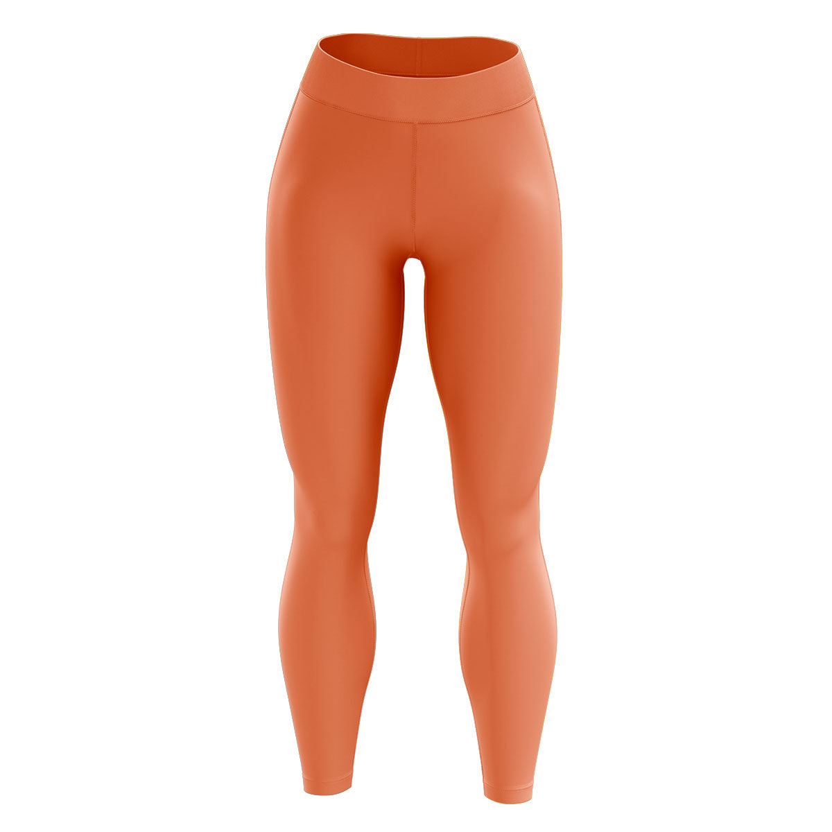 Coral High Waisted Yoga Leggings
