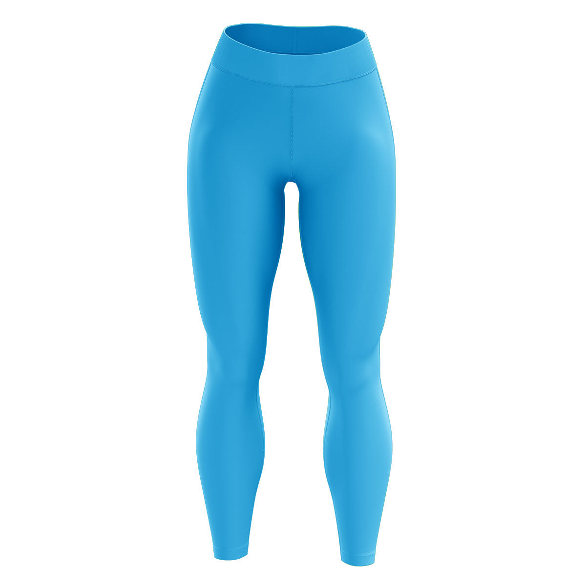 Bright Blue High Waisted Yoga Leggings