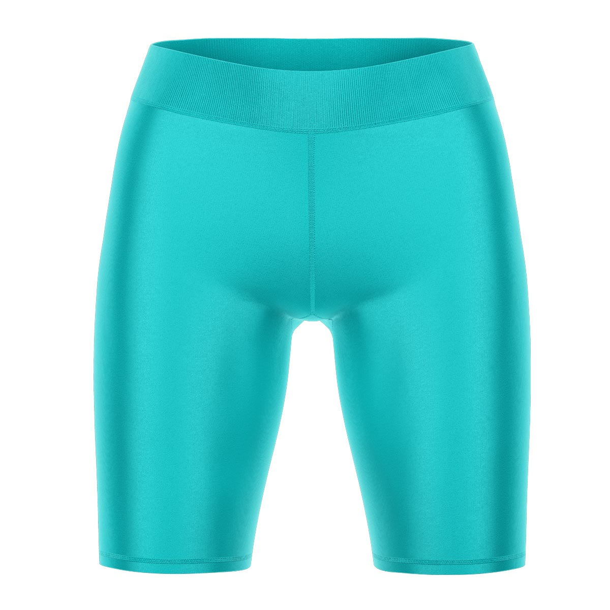 Light Turquoise Yoga Shorts