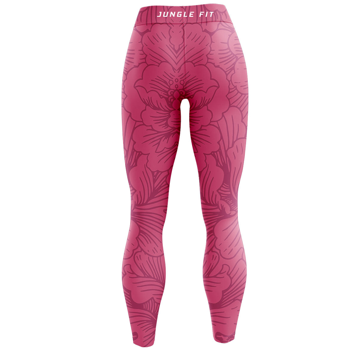 Pink Floral High Waisted Yoga Leggings