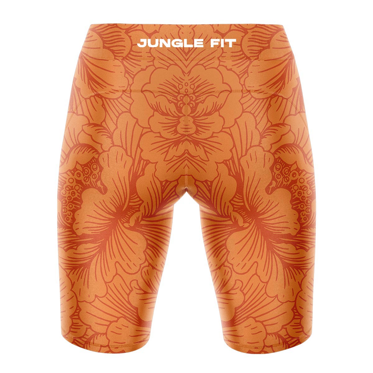 ORANGE FLORAL Yoga Shorts