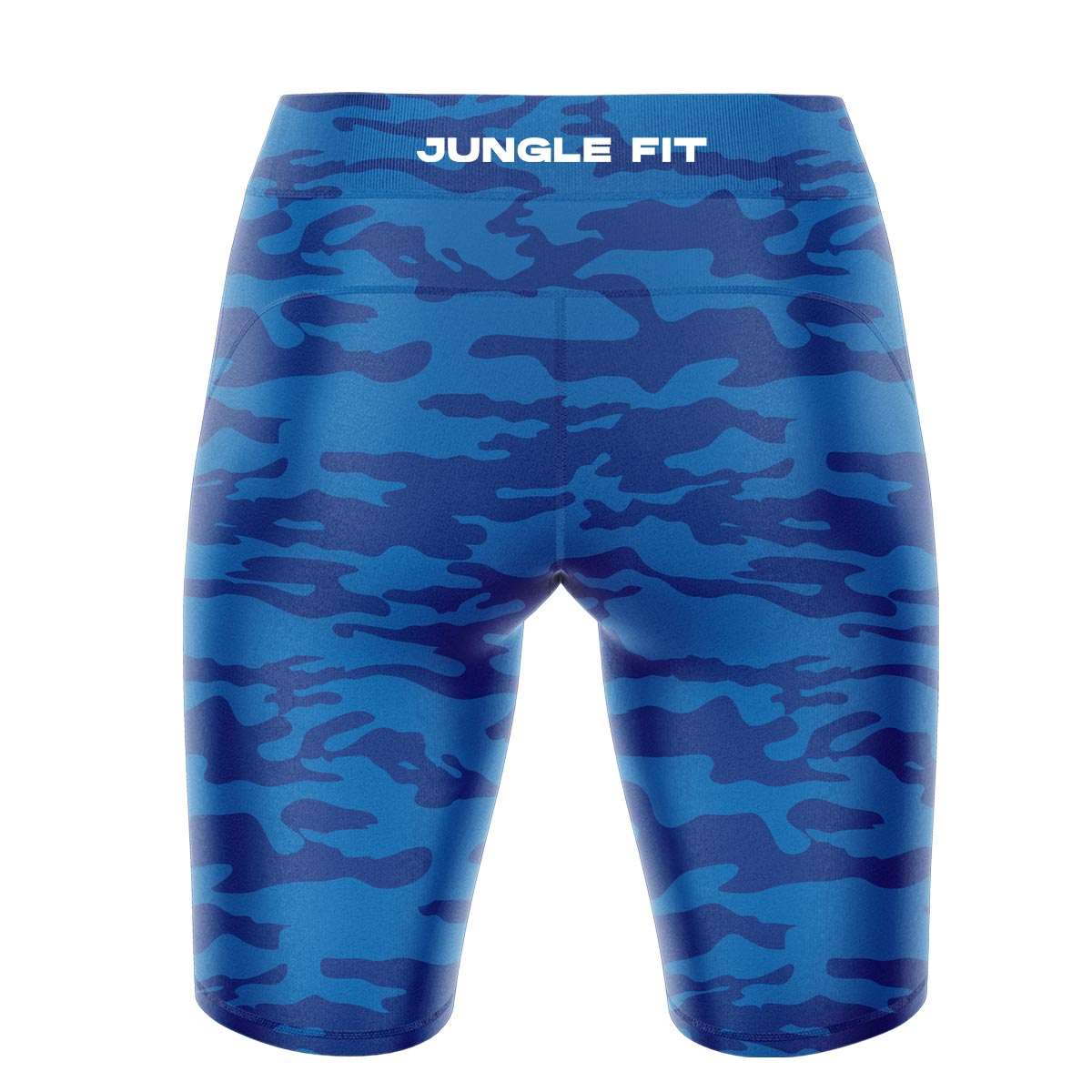 Blue Camo Yoga Shorts