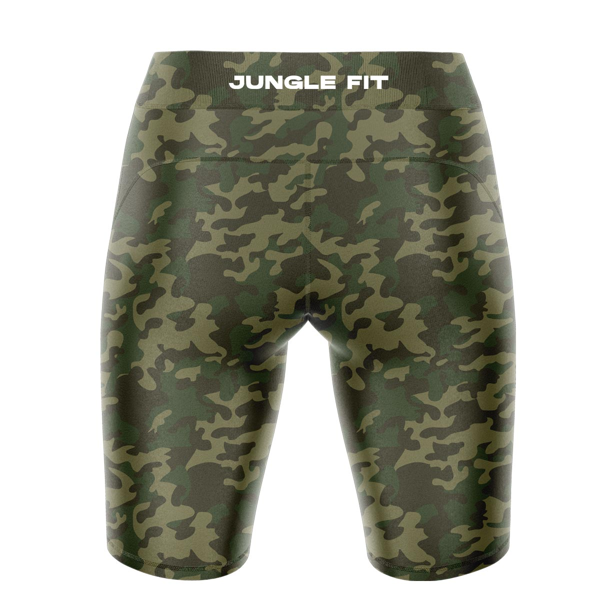 Green Camo Yoga Shorts