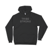 matt black tribe strong hoodie