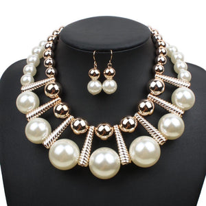 Necklace Pearl Sets Multi-layer Duftgold