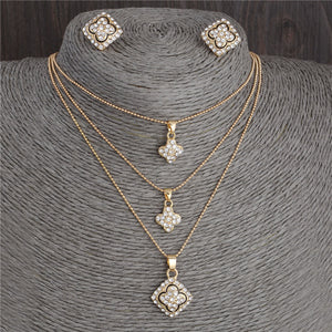 Necklace Earrings Set, Crystal