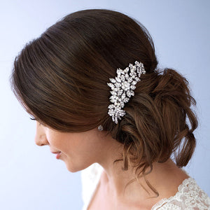 Hair Comb Crystal Floral Flower, Beautiful
