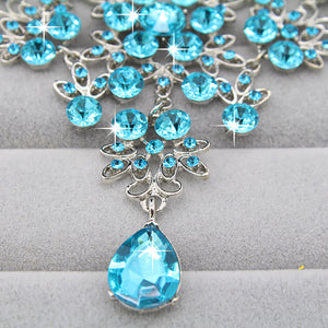 Crystal Rhinestone Earring Necklace
