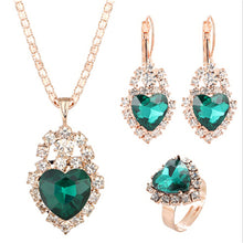 Necklaces Earring Ring, Crystal Zircon Sets
