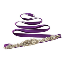 Belt Crystal Ribbon Satin Sash
