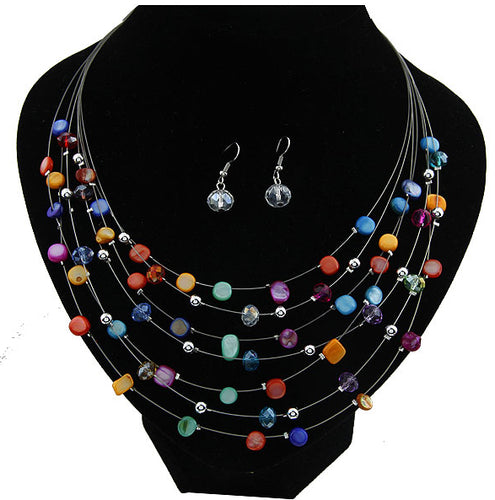 Necklace  Multi-layer Shells