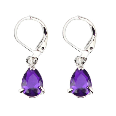Amethyst Water-drop Cut 925 Silver