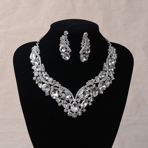 Necklace Earrings Crystal European Style, Gorgeous!