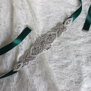 Ribbon Dress Belt Sash Diamante Sparkle Crystal Sashes