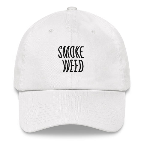 Smoke Weed White Dad hat