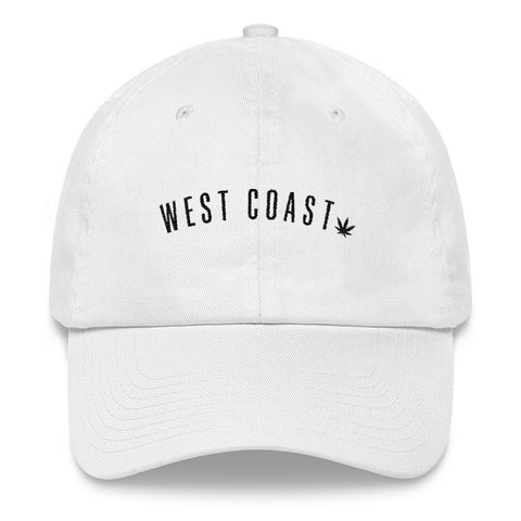 West Coast Weed White Dad hat