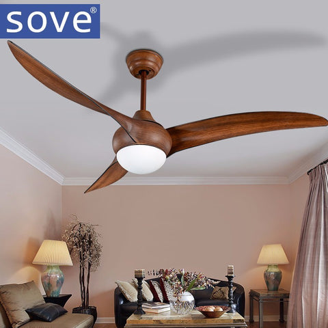 0ae1e4d30e5 52 inch LED Brown DC 30w village ceiling fans with lights minimalist dining  room living room