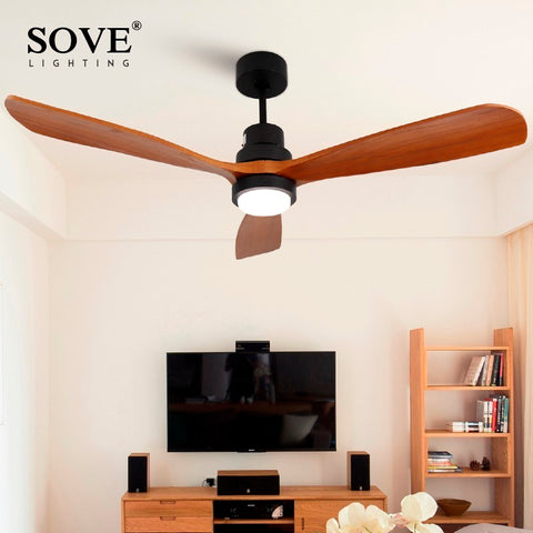 0654393fe98 Sove Wooden Ceiling Fans Without Light Bedroom 220v Ceiling Fan Wood Ceiling  Fans With Lights Remote