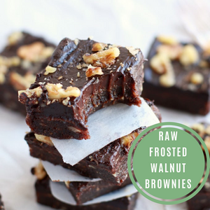 Raw Frosted Walnut Brownies
