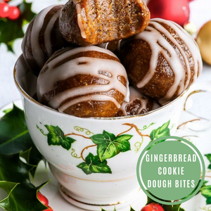Gingerbread Cookie Dough Bites