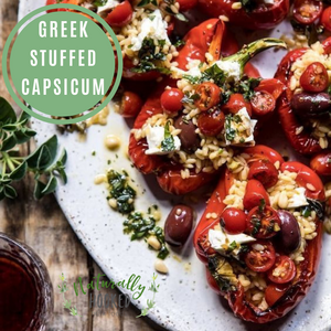 Greek Stuffed Capsicum
