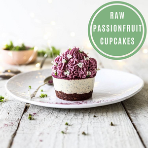 Raw Passionfruit Cupcakes