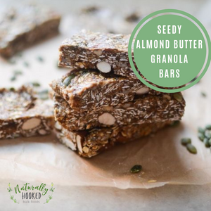 Seedy Almond Butter Granola Bars