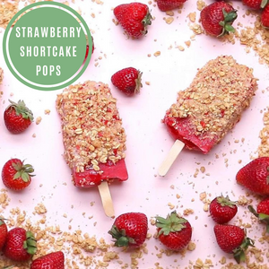Strawberry Shortcake Pops