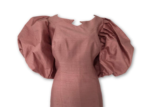 Raw Silk Collection- Puff Sleeves