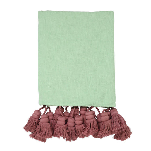Rainforest Tassel Throw