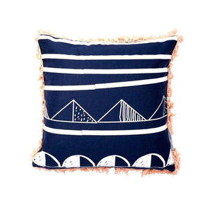 Trimmed Navy Friday Cushion