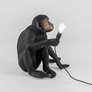Black Monkey Lamp | Sitting