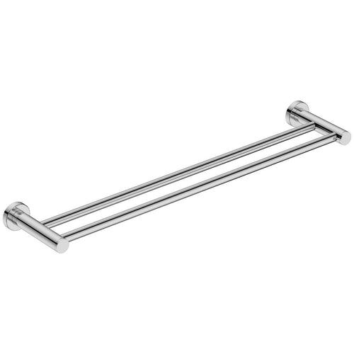 Round Double Towel Rail 650mm Stainless Steel