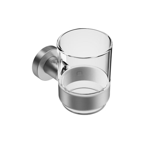 Round Toothbrush Holder Brushed Stainless Steel