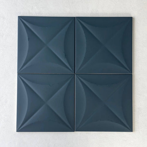4D Flower Blue 200x200mm