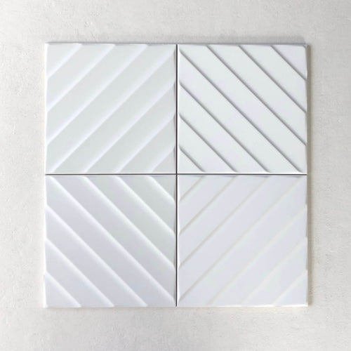 4D Diagonal White 200x200mm