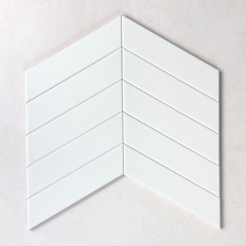 Chevron White Moon 65x260mm