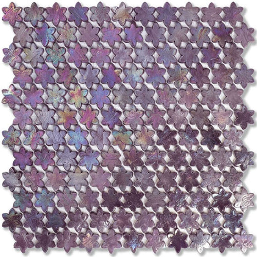 Neoglass Petites Fleurs Rosebay 316x293mm Mosaic by Sicis - Luxury wall and floor mosaics